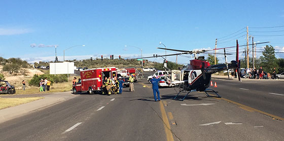 Accident closes 89a for two hours at bridgeport sedona for Cottonwood motors auto transport