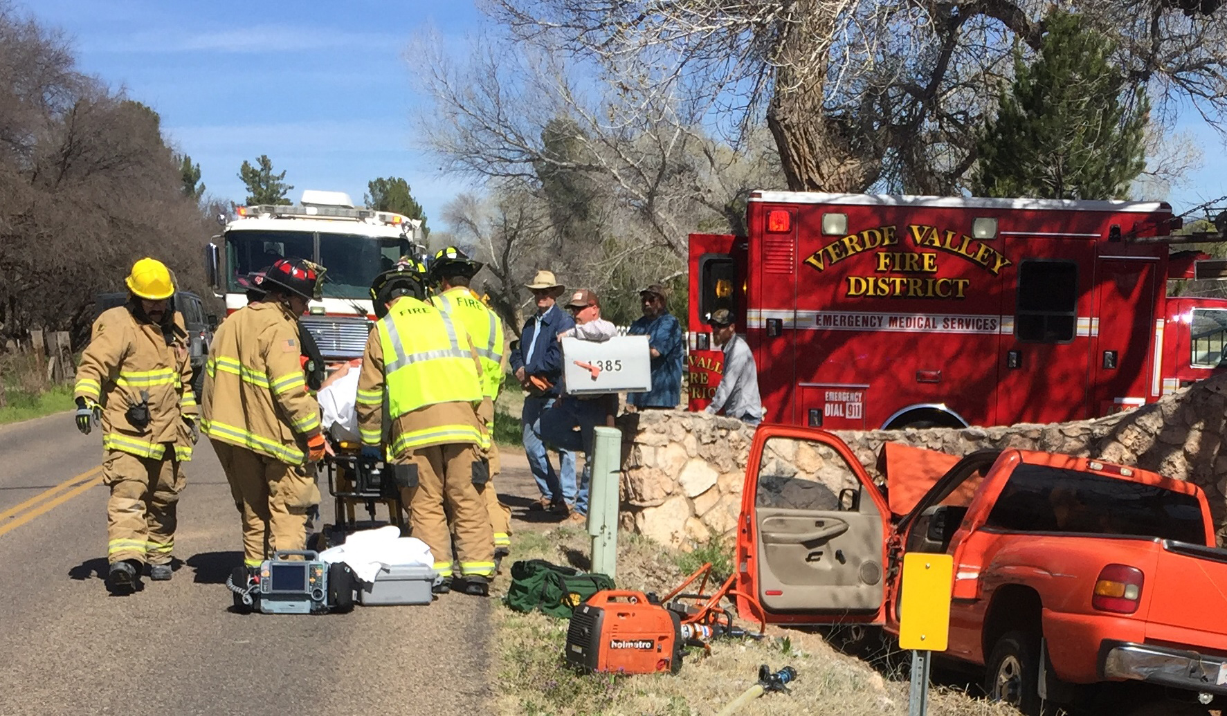 Vvfd responds to two vehicle accidents sedona biz the for Cottonwood motors auto transport
