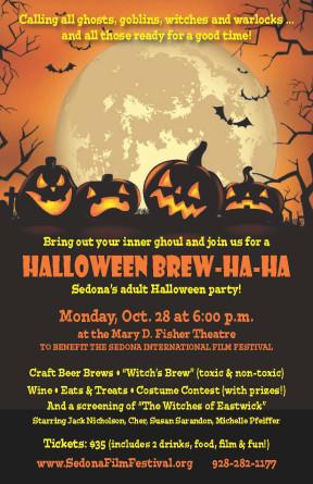 """Halloween n'est pas juste pour les enfants… Venez déguster des brasseries de bière artisanale des brasseries locales, du «brassage de sorcière», du vin, des collations et des gâteries sur le thème de l'Halloween, un concours de costumes et bien plus encore à l'Halloween Brew-Ha-Ha du Mary D Théâtre Fisher le lundi 28 octobre. """"Width ="""" 288 """"height ="""" 445 """"srcset ="""" http://www.sedona.biz/wp-content/uploads/20191020_BrewHaHa_Page_2-288x445.jpg 288w, http: // www.sedona.biz/wp-content/uploads/20191020_BrewHaHa_Page_2-362x560.jpg 362w, http://www.sedona.biz/wp-content/uploads/20191020_BrewHaHa_Page_2.jpg 825 100vw, 288px"""