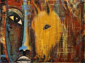 One Man Horse by Monique Kristofors